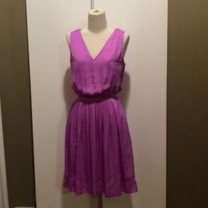 Banana Republic 4 lavender v neck dress w/rouching